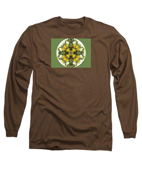 Green Yellow Kaleidoscope Long Sleeve T-Shirt