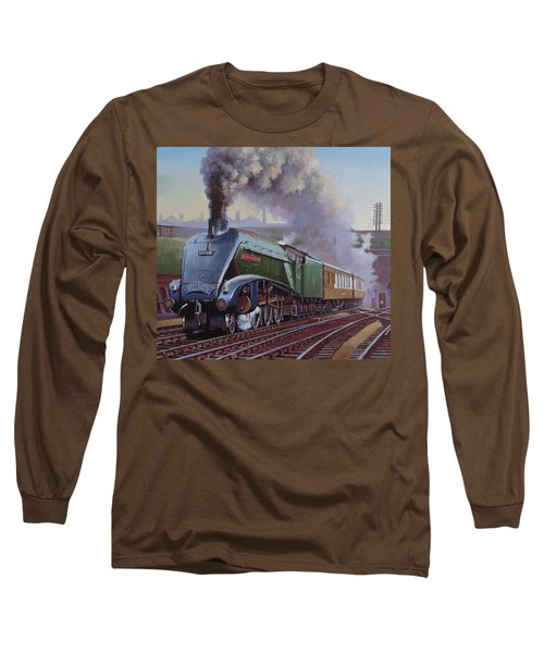 Gresley Pacific A4 Class. Long Sleeve T-Shirt by Mike  Jeffries