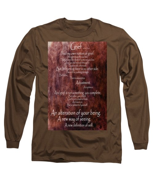 Long Sleeve T-Shirt featuring the mixed media Grief 3 by Angelina Vick