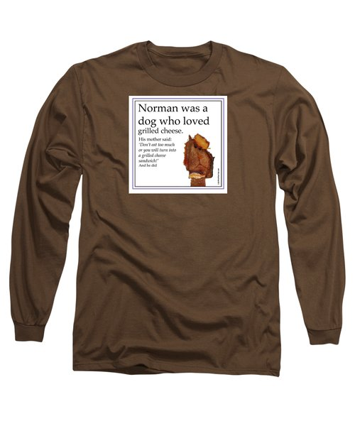 Long Sleeve T-Shirt featuring the digital art Grilled Cheese Dog by Graham Harrop