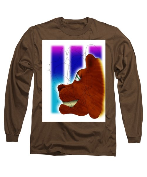 Grin And Bear It Long Sleeve T-Shirt by Ismael Cavazos