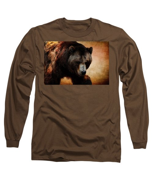 Grizzly Bear Long Sleeve T-Shirt by Judy Vincent