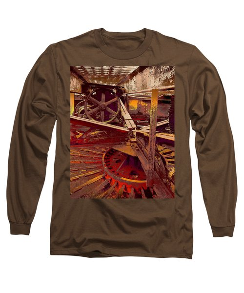 Long Sleeve T-Shirt featuring the photograph Grunge Gears by Robert Kernodle
