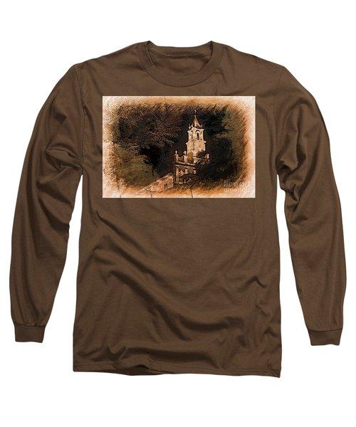 Grungy Todos Santos Long Sleeve T-Shirt by Al Bourassa