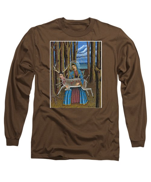Guadalupe Visits Frida Kahlo Long Sleeve T-Shirt