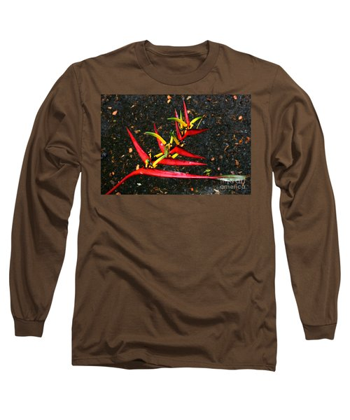 Haleconia Red Gold And Green Long Sleeve T-Shirt