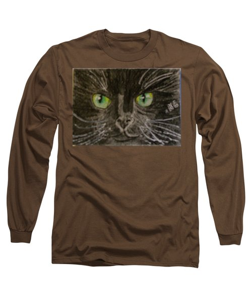 Halloween Black Cat I Long Sleeve T-Shirt by Kathy Marrs Chandler
