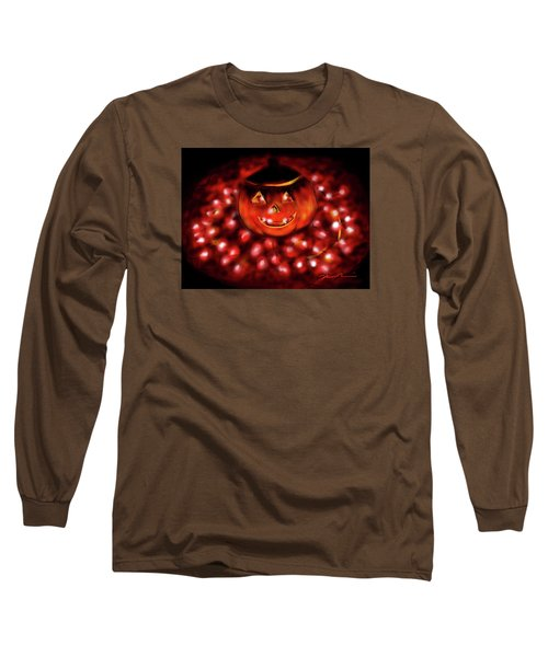Halloween Lights Long Sleeve T-Shirt by Jean Pacheco Ravinski