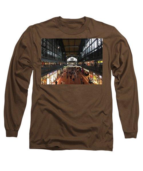Hamburg Germany Trainstation Long Sleeve T-Shirt