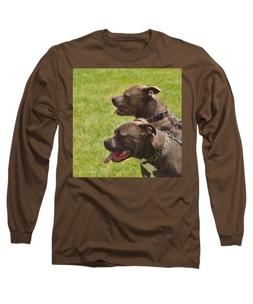 Handsome Pit Bulls Long Sleeve T-Shirt