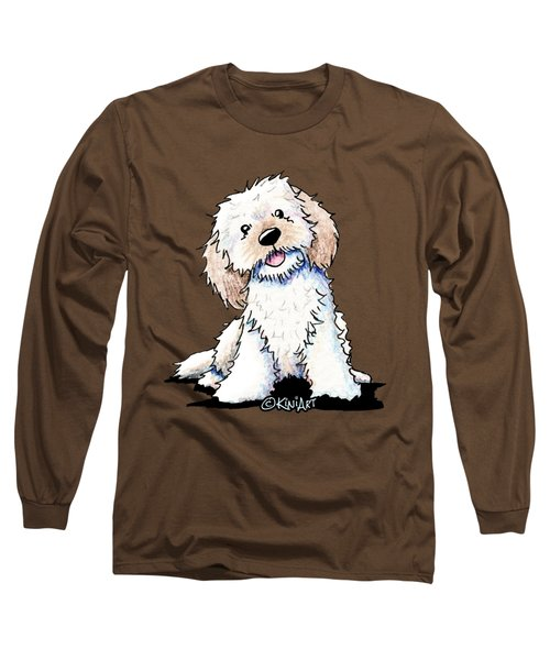 Happy Doodle Puppy Long Sleeve T-Shirt