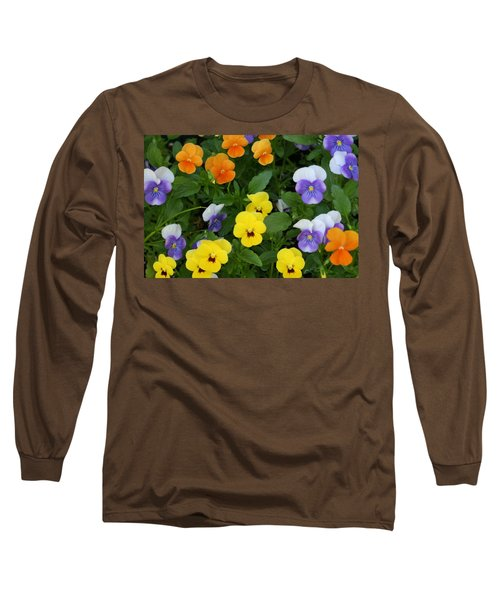 Long Sleeve T-Shirt featuring the digital art Happy Faces by Barbara S Nickerson