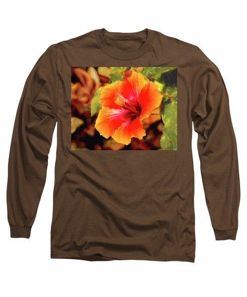 Happy Hibiscus Long Sleeve T-Shirt