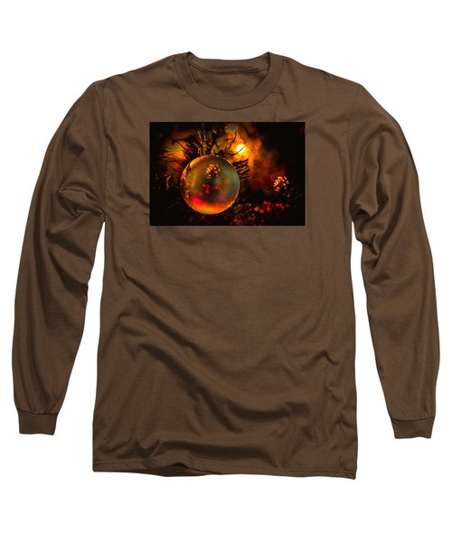 Happy Holidays Background Long Sleeve T-Shirt by Kevin Cable