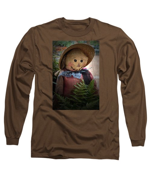 Happy Scarecrow Long Sleeve T-Shirt by Karen Harrison