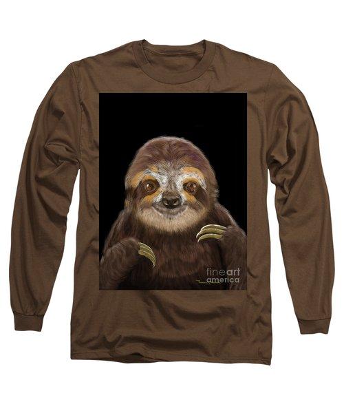 Happy Three Toe Sloth Long Sleeve T-Shirt