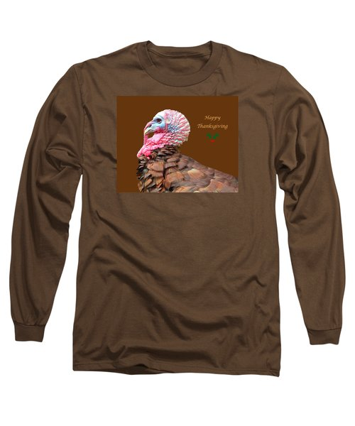 Long Sleeve T-Shirt featuring the photograph Happy Thanksgiving by Marion Johnson