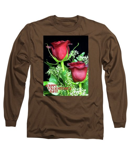 Long Sleeve T-Shirt featuring the photograph Happy Valentines Day by Sandi OReilly