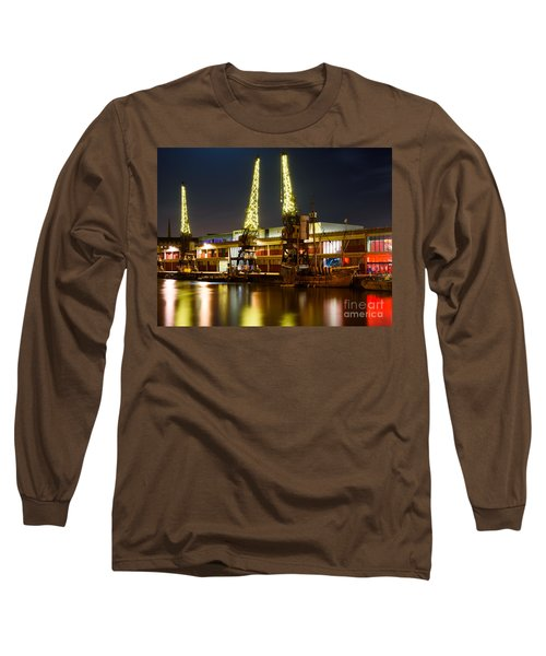 Harbour Cranes Long Sleeve T-Shirt by Colin Rayner