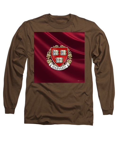 Harvard University Seal Over Colors Long Sleeve T-Shirt by Serge Averbukh