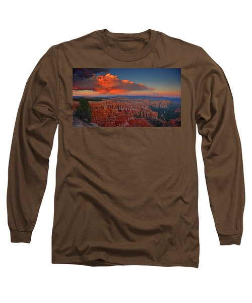 Harvest Moon Over Bryce National Park Long Sleeve T-Shirt