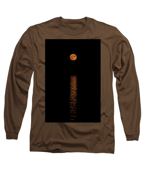 Long Sleeve T-Shirt featuring the photograph Harvest Moonrise by Paul Freidlund