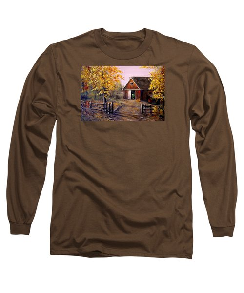 Harvest Time Long Sleeve T-Shirt by Alan Lakin