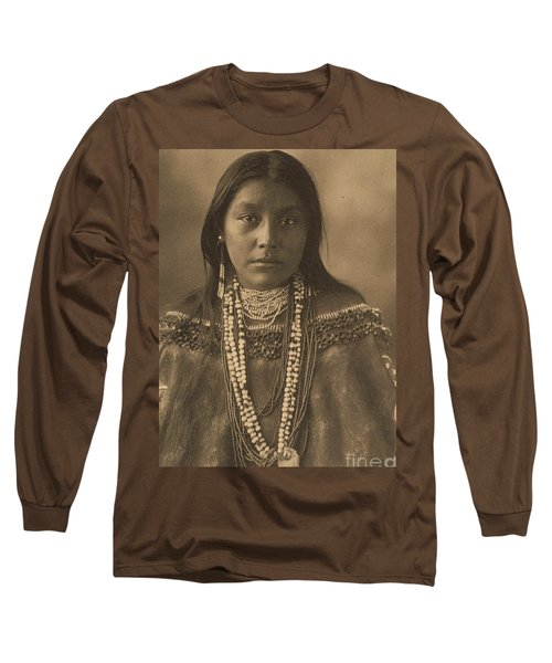 Hattie  Tom  Apache Long Sleeve T-Shirt by Pg Reproductions