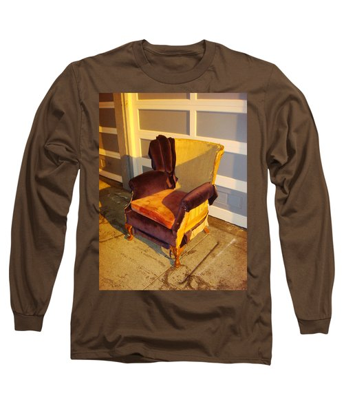 Long Sleeve T-Shirt featuring the photograph Have A Seat In Dore Alley by Mr Photojimsf