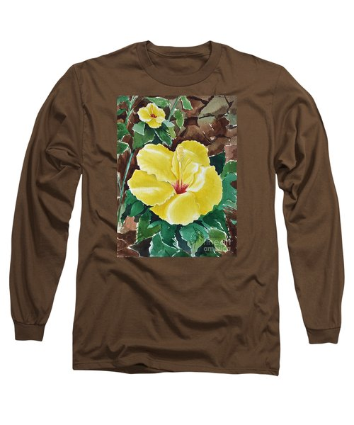 Hawaiian Hibiscus Long Sleeve T-Shirt by Joan Hartenstein
