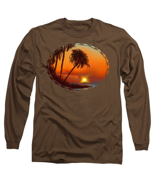 Hawaiian Sunset Long Sleeve T-Shirt