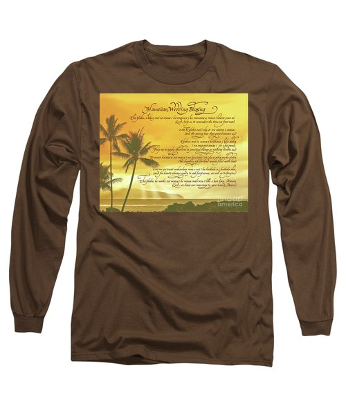 Hawaiian Wedding Blessing-sunset Long Sleeve T-Shirt