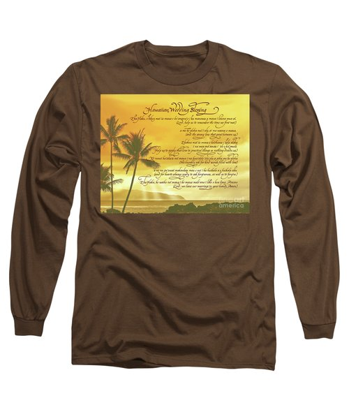 Hawaiian Wedding Blessing-sunset Long Sleeve T-Shirt
