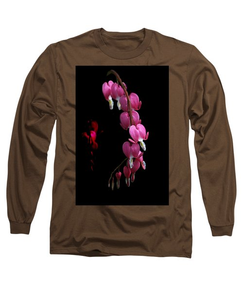 Long Sleeve T-Shirt featuring the photograph Hearts In The Dark by Susan Capuano