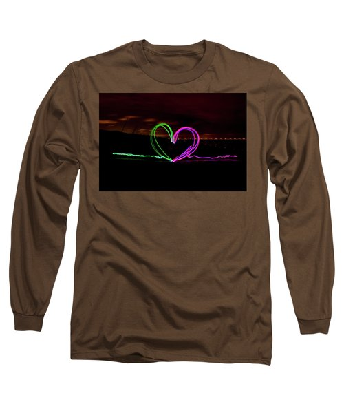Hearts In The Night Long Sleeve T-Shirt