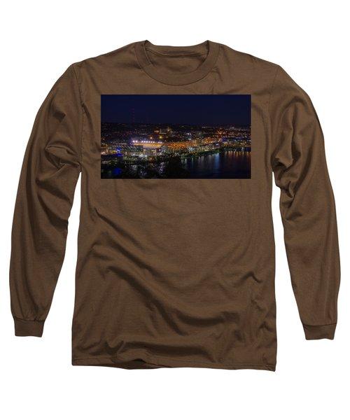 Heinz Field At Night From Mt Washington Long Sleeve T-Shirt