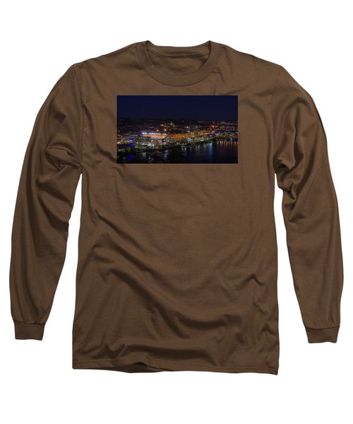 Heinz Field At Night From Mt Washington Long Sleeve T-Shirt