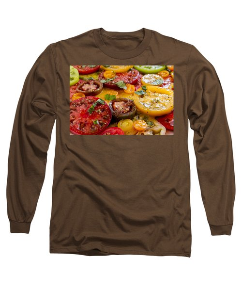 Heirloom Tomatoes With Basil Long Sleeve T-Shirt