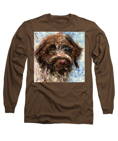 Long Sleeve T-Shirt featuring the painting Henry by Molly Poole