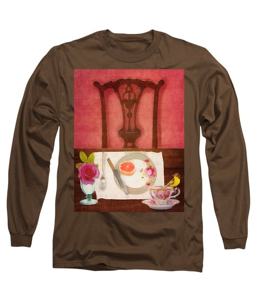 Her Place At The Table Long Sleeve T-Shirt by Lisa Noneman