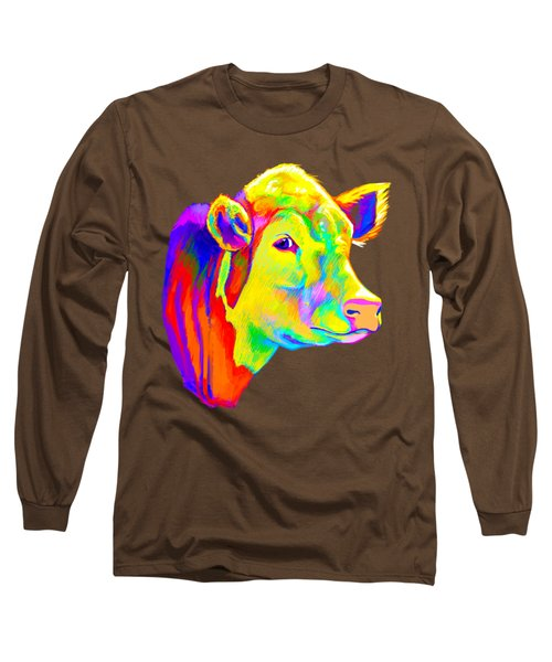 Hereford Cow In Colors Long Sleeve T-Shirt