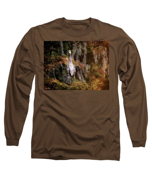 Heron Camouflage Long Sleeve T-Shirt by Phil Mancuso