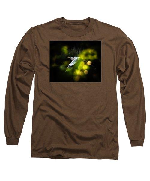 Heron Launch Long Sleeve T-Shirt by Jim Proctor