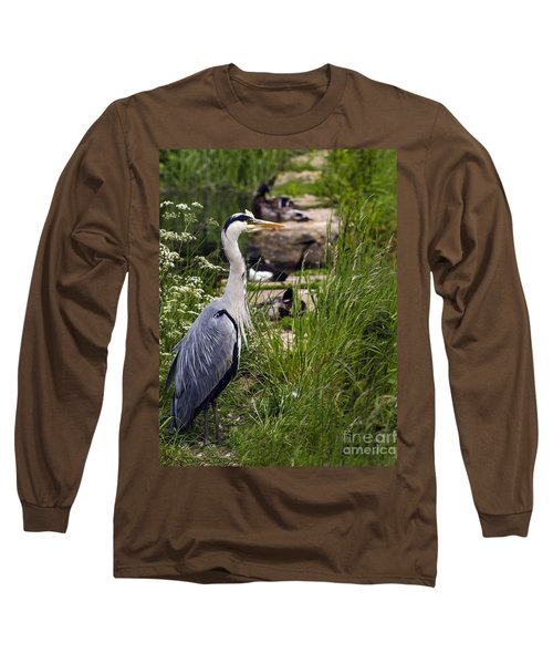 Long Sleeve T-Shirt featuring the photograph Heron by Linsey Williams