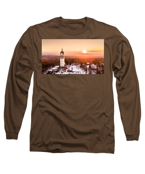 Heublein Tower In Simsbury Connecticut Long Sleeve T-Shirt by Petr Hejl