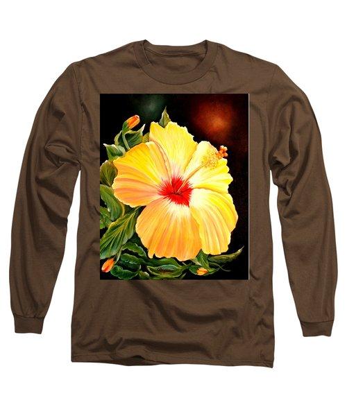Hibiscus Glory Long Sleeve T-Shirt
