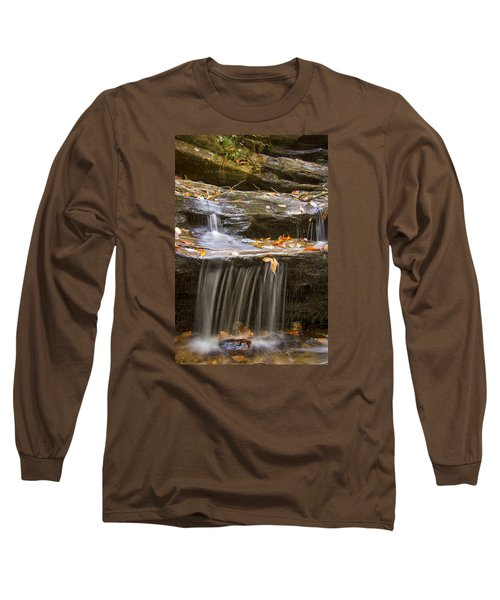 Long Sleeve T-Shirt featuring the photograph Hidden Falls Detail by Bob Decker