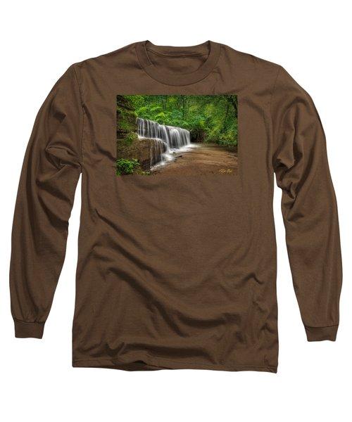 Hidden Falls  Long Sleeve T-Shirt by Rikk Flohr