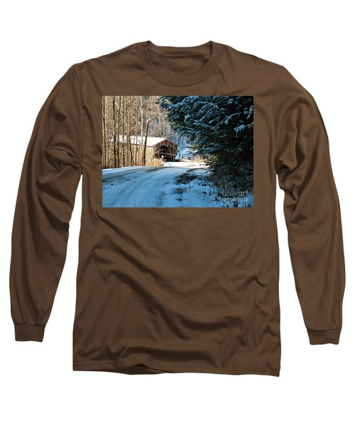 Historic Grist Mill Covered Bridge Long Sleeve T-Shirt