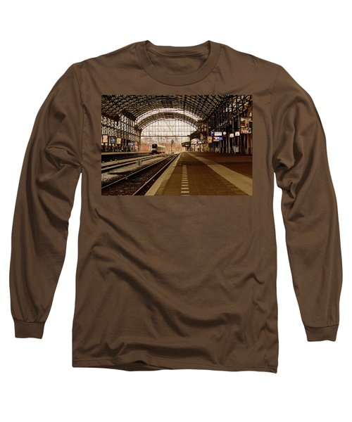 Historic Railway Station In Haarlem The Netherland Long Sleeve T-Shirt